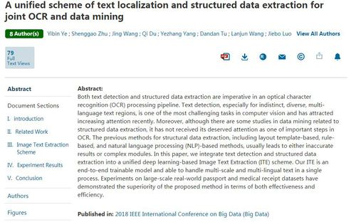 A Unified Scheme Of Text Localization And Structured Data Extraction For Joint Ocr And Data Mining Big Data And Artificial Intelligence Area Inzeed Business Information Counsel
